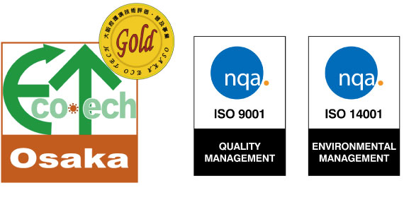 Eco Tech Osaka Gold / ISO 9001 / ISO 14001